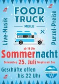 Sommernacht in Waging mit Food-Truck-Meile