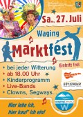 Marktfest in Waging am Sa., 27. Juli