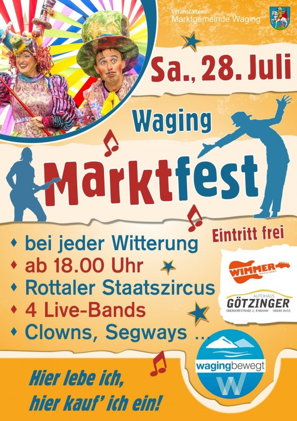 Marktfest in Waging am 28. Juli